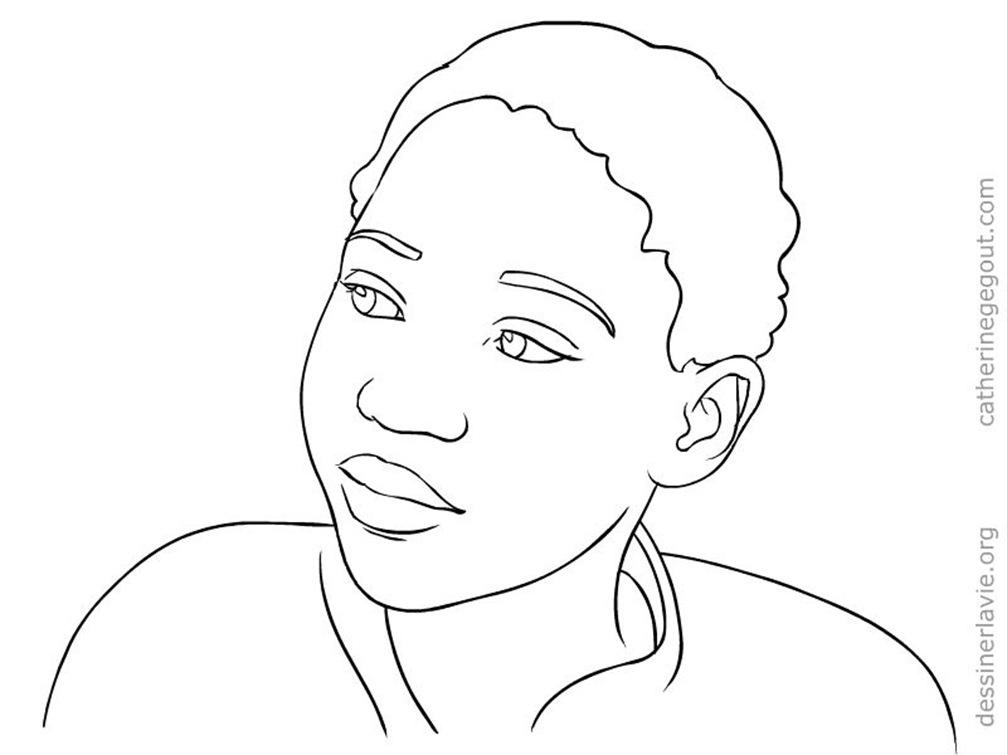 Pour enfants dessiner la vie - Coloriage visage ...